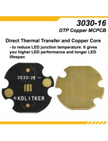 KDLITKER 3030-20 DTP Copper MCPCB for Osram / 3030 LEDs ( 2 pcs )