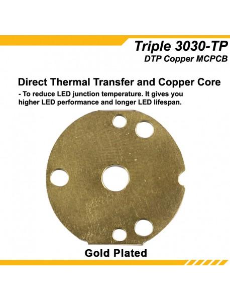 KDLITKER 3030-TP Triple DTP Copper MCPCB for Osram 3030 Series LEDs (2 PCS)