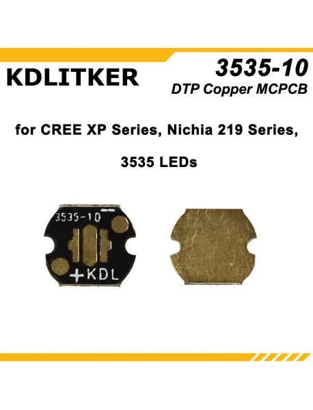 KDLITKER 3535-10 DTP Copper MCPCB for Cree XP Series / Nichia 219 Series / 3535 LEDs ( 2 pcs )