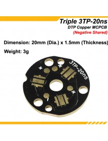 KDLITKER Triple 3TP-20ns DTP Copper MCPCB for Cree XP Series / Nichia 219 Series / 3535 LEDs - (Negative Shared) ( 2 pcs )