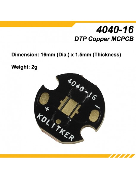 KDLITKER 4040-16 DTP Copper MCPCB for Luxeon V / 4040 LEDs ( 2 pcs )