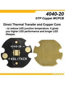 KDLITKER 4040-20 DTP Copper MCPCB for Luxeon V / 4040 LEDs ( 2 pcs )