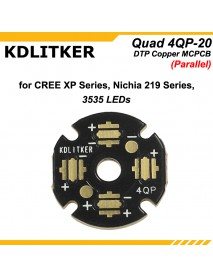 New KDLITKER Quad 4QP-20 DTP Copper MCPCB for Cree XP Series / Nichia 219 Series / 3535 LEDs (2 pcs)