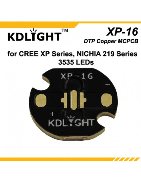KDLITKER 3535-16 DTP Copper MCPCB for Cree XP Series / Nichia 219 Series / 3535 LEDs ( 2 pcs )