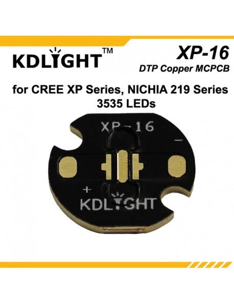 KDLIGHT 3535-16 DTP Copper MCPCB for Cree XP Series / Nichia 219 Series / 3535 LEDs ( 2 pcs )