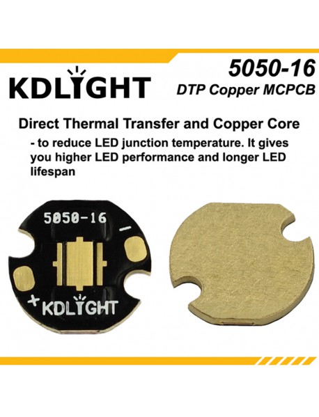 KDLITKER 5050-16 DTP Copper MCPCB for Cree XM Series / XHP50 / 5050 LEDs ( 2 pcs )