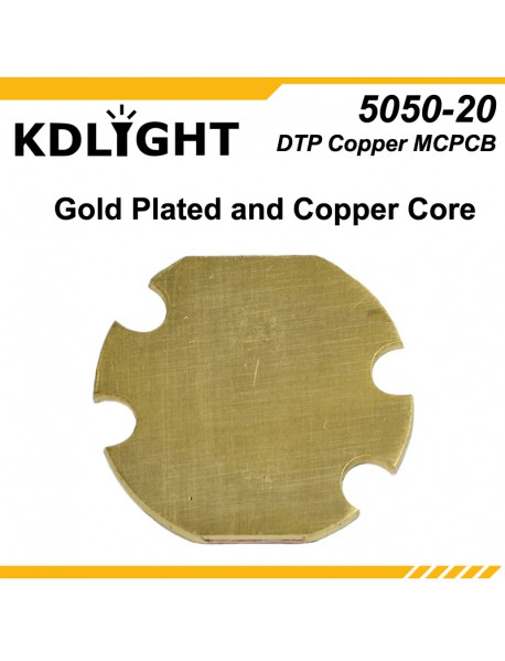 KDLITKER 5050-20 DTP Copper MCPCB for Cree XM Series / XHP50 / 5050 LEDs ( 2 pcs )