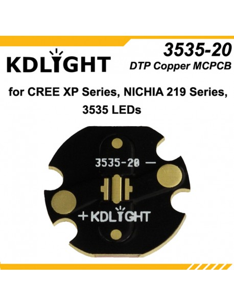 KDLIGHT 3535-20 DTP Copper MCPCB for Cree XP Series / Nichia 219 Series / 3535 LEDs