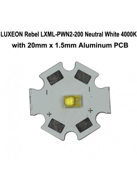 LUXEON Rebel LXML-PWN2-200 Neutral White 4000K LED Emitter(1pc)