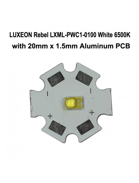 LUXEON Rebel LXML-PWC1-0100 White 6500K LED Emitter (1pc)