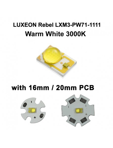 LUXEON Rebel LXM3-PW71-1111 Warm White 3000K LED Emitter (1pc)