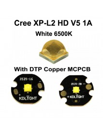 Cree XP-L2 HD V5 1A White 6500K LED Emitter (1 pc)