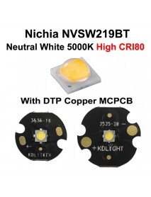 Nichia 219BT Neutral White 5000K CRI80 LED Emitter (1 pc)