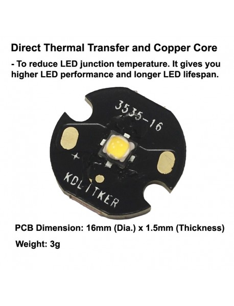 Nichia 219CT Neutral White 4000K CRI80 LED Emitter (1 pc)