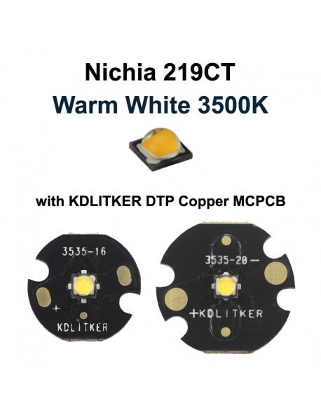 Nichia 219CT Warm White 3500K LED Emitter (1 pc)