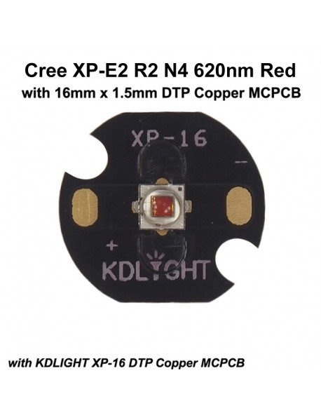 Cree XP-E2 R2 N4 620nm Red LED Emitter (1 pc)