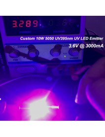 Custom 10W 5050 UV395nm Ultraviolet UV LED Emitter (1 pc)