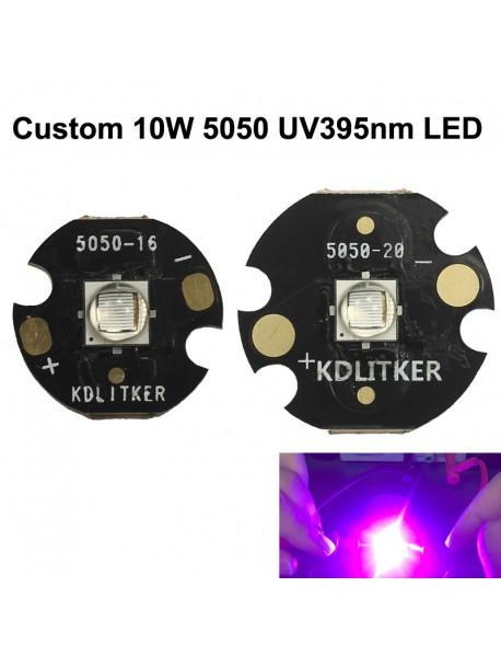 Custom 10W 5050 UV395nm Ultraviolet UV LED Emitter (1 pc)