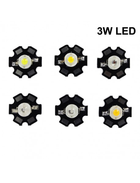 3W White / Neutral White / Warm White / Red / Green / Blue LED (1 pc)