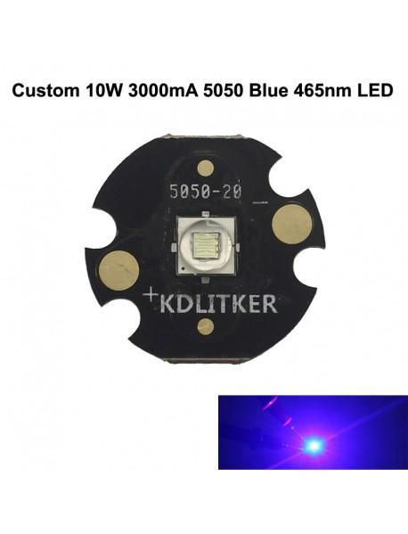 Custom 10W 3000mA 5050 Blue 465nm LED (1 pc)