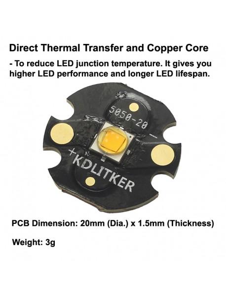 Custom 10W 3000mA 5050 Amber 595nm LED (1 pc)
