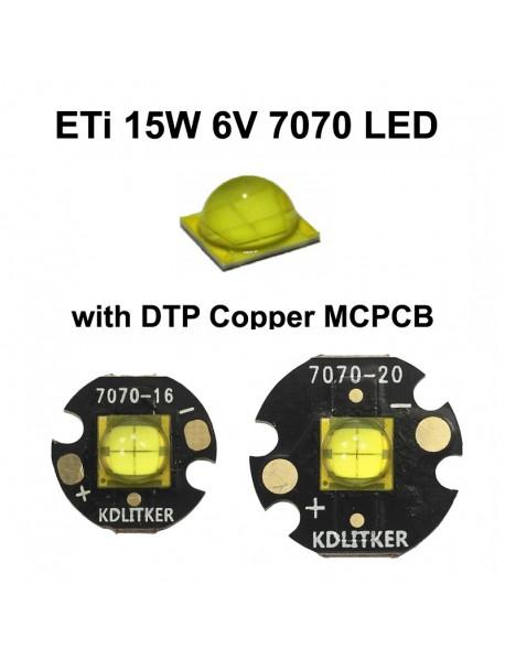 ETi 7070 15W 6V 2400mA 1700 Lumens High Power LED Emitter (1 PC)