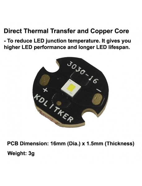 Osram KW CSLPM1.TG 5P-fcbB46-15 White 5400K LED Emitter - 1 pc