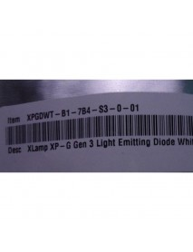 Cree XP-G3 S3 7B4 Warm White 3000K LED Emitter - 1 pc