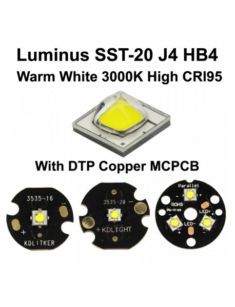 Luminus SST-20 J4 HB4 Warm White 3000K High CRI95 LED Emitter - 1 PC