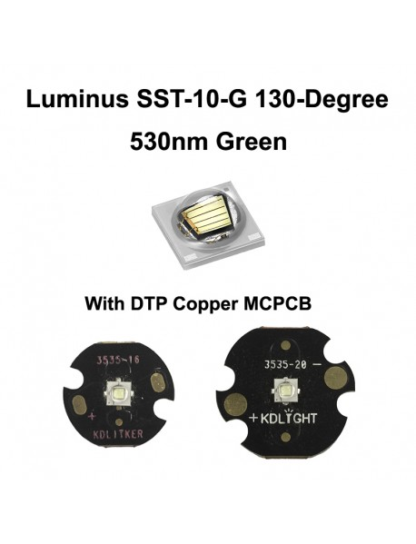 Luminus SST-10-G 130-Degree 530nm Green LED Emitter - 1 pc
