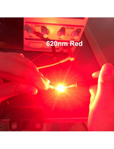 Triple Luminus SST-10-R 620nm Red LED Emitter with 20mm x 1.5mm DTP Copper PCB (Parallel) w/ optics