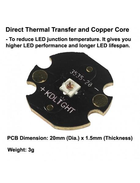 Luminus SST-10-R 90-degree 620nm Red LED Emitter