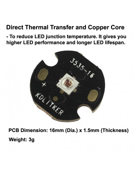 Luminus SST-10-R 130-degree 620nm Red LED Emitter
