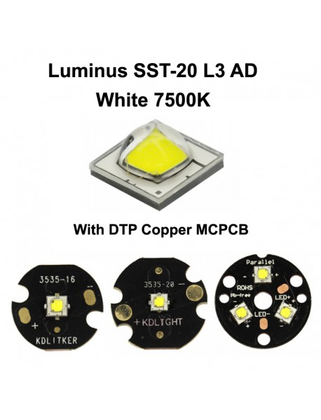 Luminus SST-20 L3 AD White 7500K LED Emitter - 1 pc
