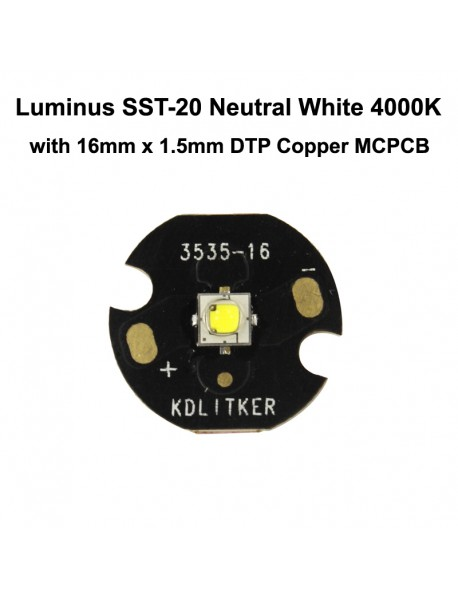 Luminus SST-20 K2 FD2 Neutral White 4000K CRI95 LED Emitter (1 pc)