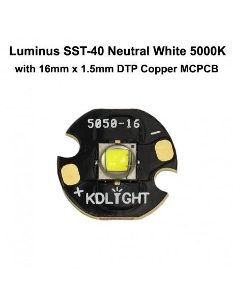 Luminus SST-40 N5 DD Neutral White 5000K LED Emitter (1 pc)