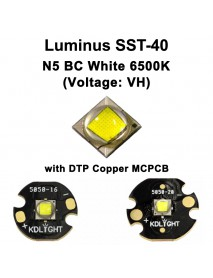 High Power Luminus SST-40 (Voltage: VH) N5 BC White 6500K LED Emitter - 1 pc