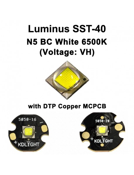 Luminus SST-40 (Voltage: VH) N5 BC White 6500K LED Emitter - 1 pc