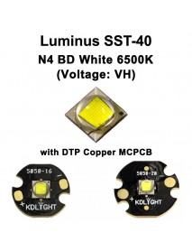 High Power Luminus SST-40 (Voltage: VH) N4 BD White 6500K LED Emitter - 1 pc
