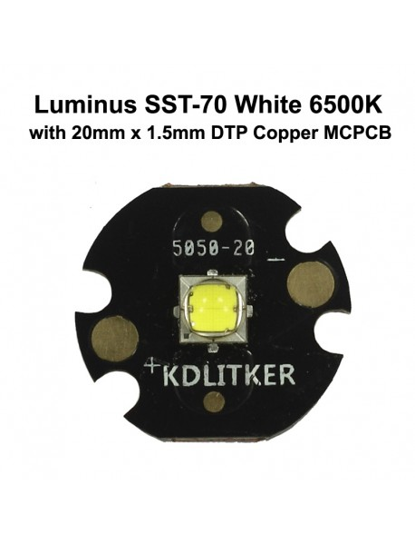 Luminus SST-70 R3 BA White 6500K LED Emitter - 1 pc