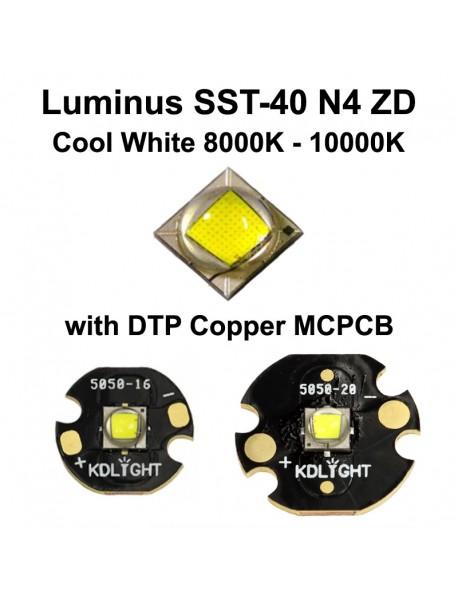 Luminus SST-40 N4 ZD Cool White 8000K - 10000K LED Emitter (1 pc)
