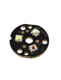 Triple Cree XP-E2 LED Emitter with 20mm x 1.5mm DTP Copper PCB (Negative Shared) w/ optics