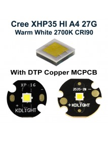 Cree XHP35 HI A4 27G Warm White 2700K CRI90 LED Emitter (1 pc)
