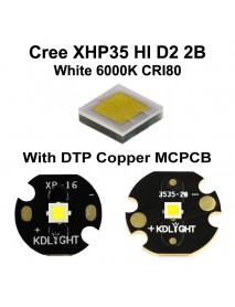 Cree XHP35 HI D2 2B White 6000K CRI80 LED Emitter (1 pc)