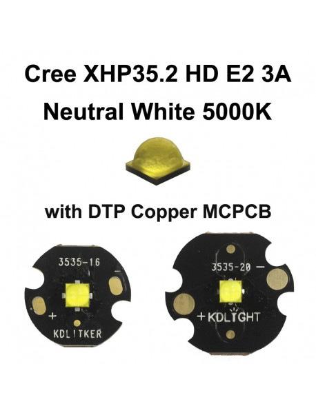 Cree XHP35.2 HD E2 3A Neutral White 5000K LED Emitter (1 PC)