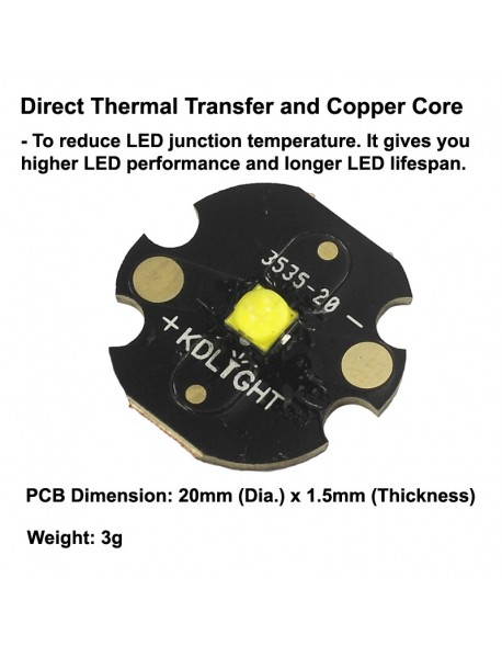 Cree XHP35.2 HD E2 5C Neutral White 4000K LED Emitter (1 PC)
