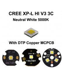 Cree XP-L HI V3 3C Neutral White 5000K LED Emitter (1 pc)