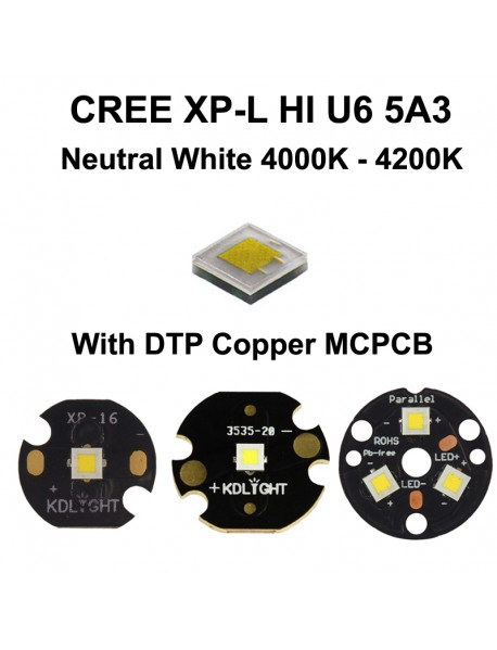 Cree XP-L HI U6 5A3 Neutral White 4000K - 4200K LED Emitter (1 pc)