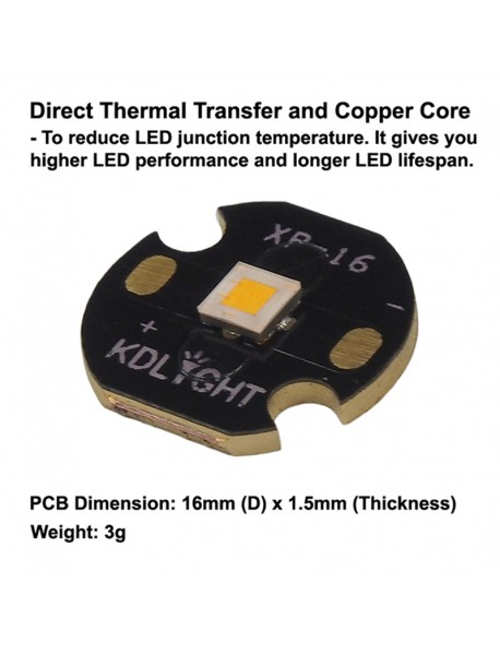 Cree XP-L HI T5 7C1 Warm White 3000K High CRI90 LED Emitter (1 pc)