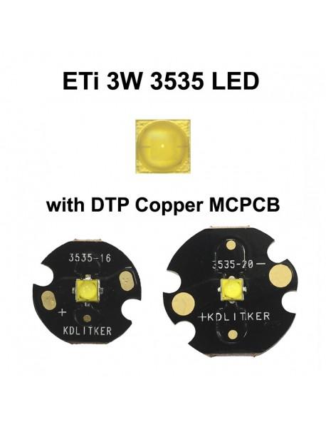ETi 3W 3V-3.6V 1000mA 260 Lumens 3535 LED (1 PC)